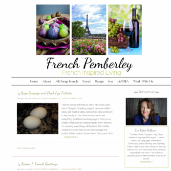 French Pemberley - Blogger to Wordpress Transfer